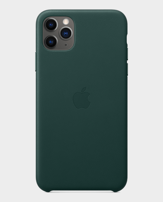 Apple iPhone 11 Pro Max Leather Case Forest Green in Qatar