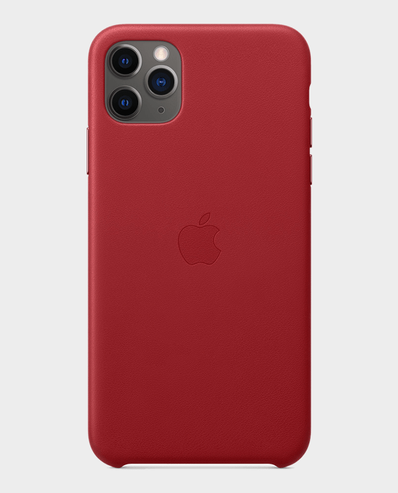Apple iPhone 11 Pro Max Leather Case (Product) Red in Qatar