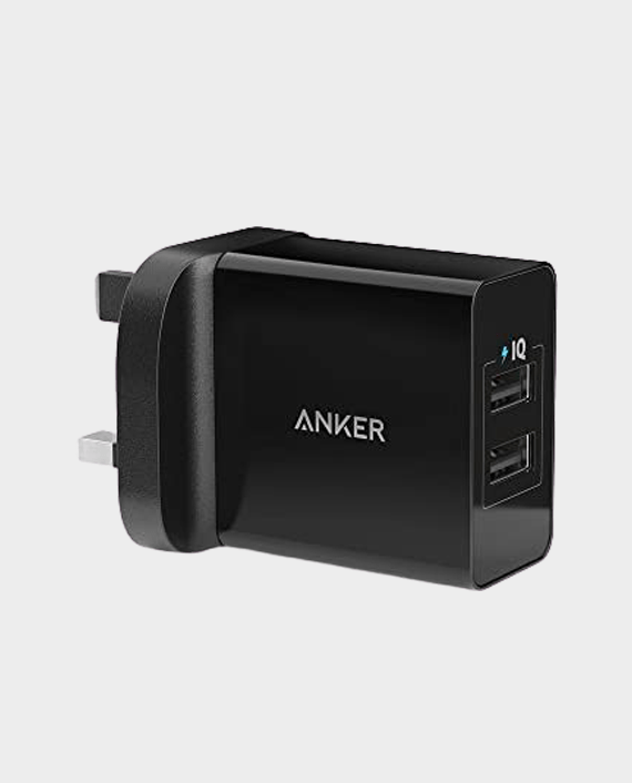 Anker 24W 2-Port USB With Micro USB Cable Black in Qatar
