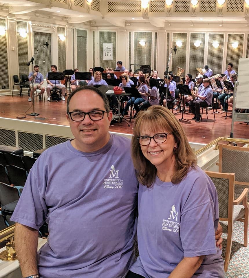 Joe and Lori with Wind Ensemble