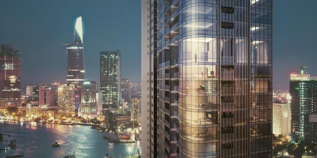 Tháp Luxury 6 nhìn trên cao