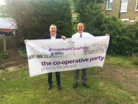 Lewisham Co-operative Party liam ah 2017 garden banner