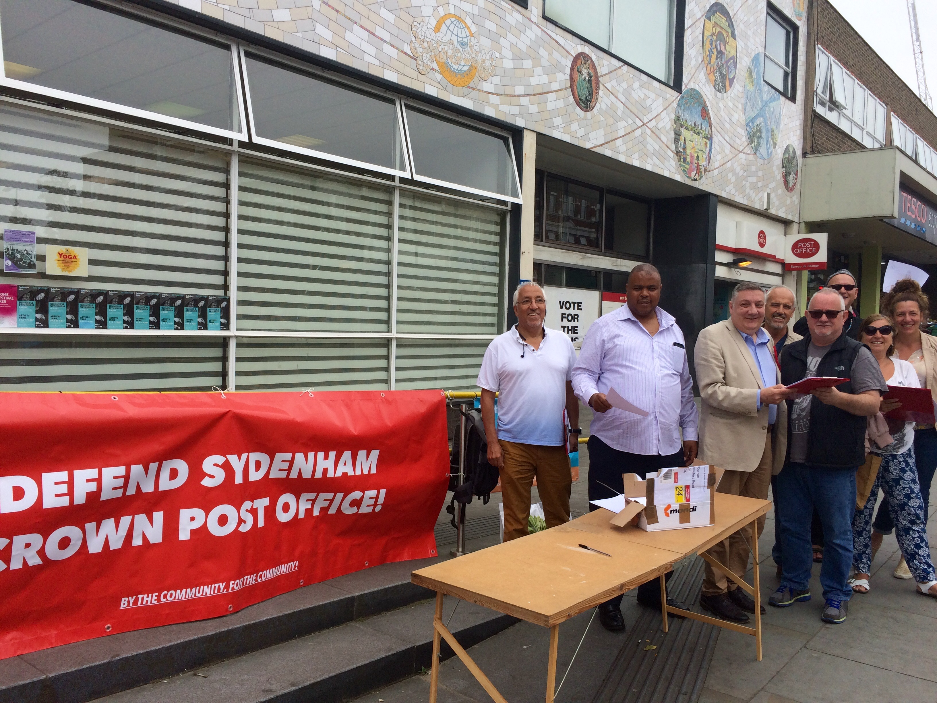 Sydenham Post Office ministeral letter campaign july 2017