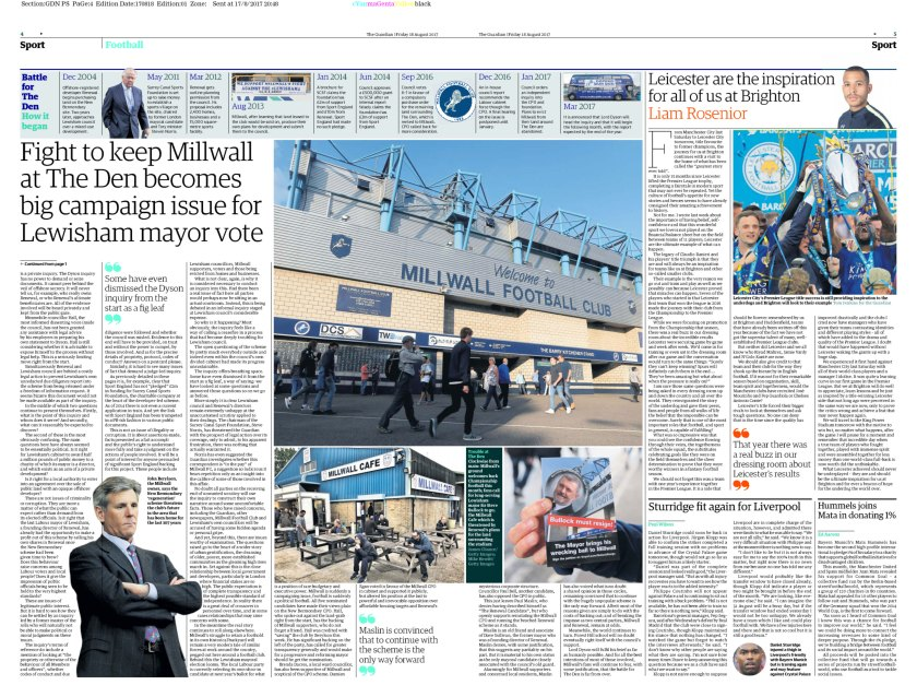 Guardian-Millwall-Article---Paper-Edition-pp4-5