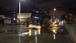 Lee High Road Coach flood