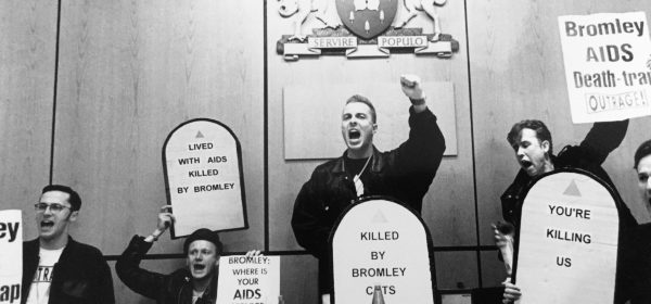 AIDS activists protest in Bromley Council Chamber