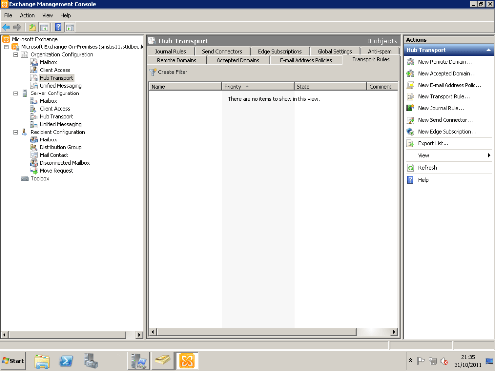 How To Configure Exchange 2010 To Delay Sending Of Emails With Large Attachments Until Approved By Moderator (1/6)