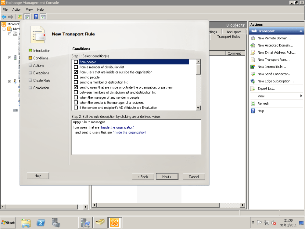 How To Configure Exchange 2010 To Delay Sending Of Emails With Large Attachments Until Approved By Moderator (4/6)