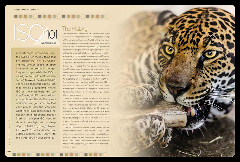 ISO 101 Article – Photoshop User Magazine