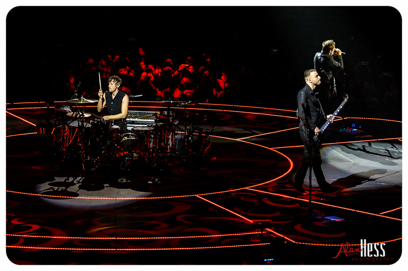 MUSE performs during their DRONES World Tour at the Valley View Casino Center on January 7, 2016 in San Diego, CA