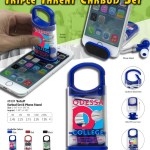 earbud set & phone stand