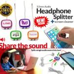 headphone splitter & screen cleaner