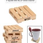 mini pallet wood coaster