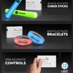 remote activated sticks and bracelets