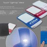 touch light-up mirror