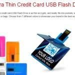 thin credit card USB flash drive