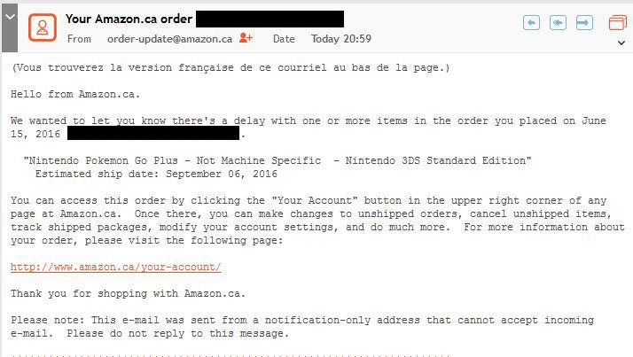 pokemon go plus release date canada