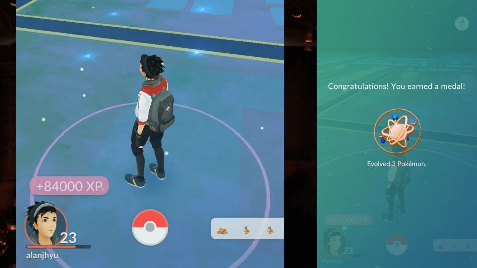 pokemon go fast exp pidgey elvolve lucky egg