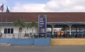 Tumpat Railway station, at the end of Malayan Railways' eastern line, near the Thai border.