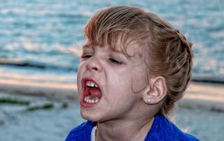 little girl having meltdown
