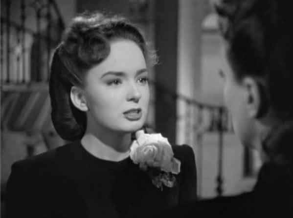 Movie still from Mildred Pierce of Ann Blyth