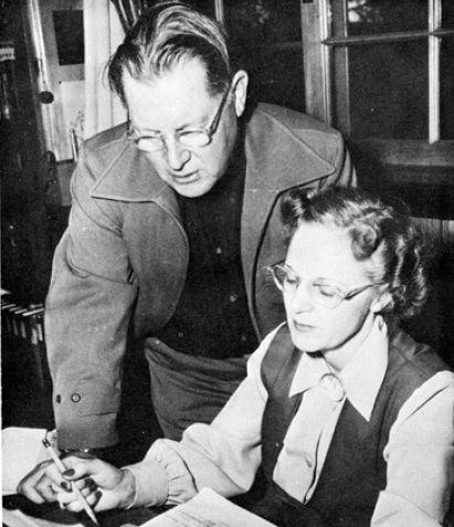 9 Earle Stanley Gardner and his assistant