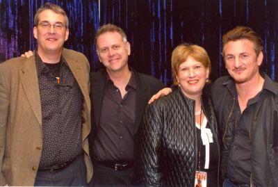 Alan K. Rode, Eddie Muller, Andrea Kasin, and Sean Penn