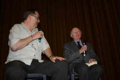 Alan K. Rode On Stage with Norman Lloyd