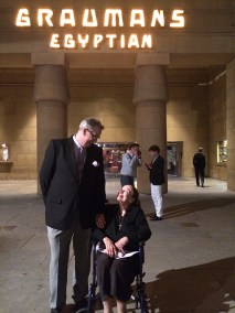 photo of Patricia Morison with Alan K. Rode at Grauman's Egyptian Theatre