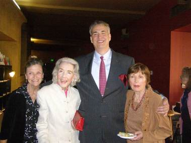 Patty McCormack, Marsha Hunt, and Coleen Gray with Alan K. Rode