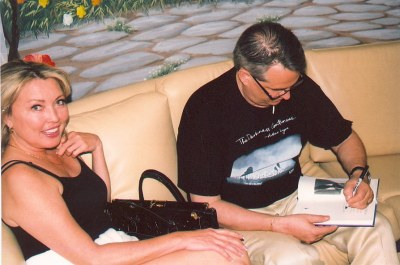 Anita Carson Getting her Copy of Charles McGraw: Film Noir Tough Guy Autographed by Alan K. Rode