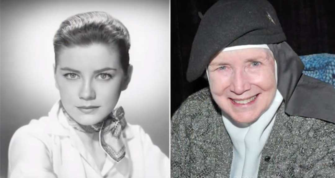side by side photos of young and old Jan Shepard
