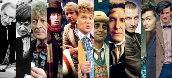 "The different ""Doctors"" who played on the TV show ""Doctor Who"""