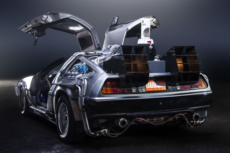 DeLorean Time Machine. Photo by Terabass on WikiMedia (CC License)