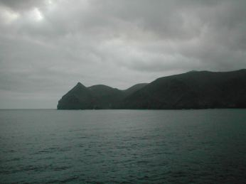 My first ever view of St Helena