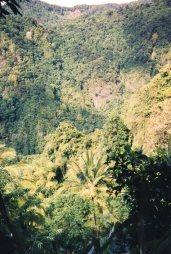 The sulphurous hills around Soufriere