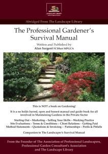The Professional Gardeners Manual Cover