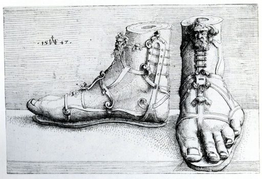 Augustin Hirschvogel: Sandals with Classical Ornaments