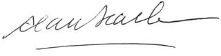 Alan Searle signature