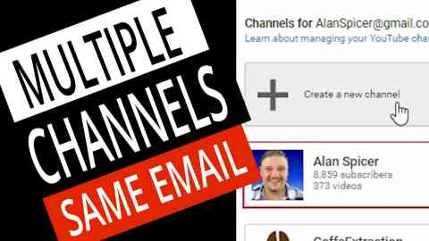 How To Make A SECOND YouTube Channel with the SAME EMAIL 1