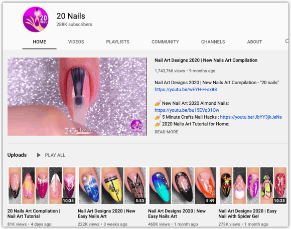 20 Nails Channel