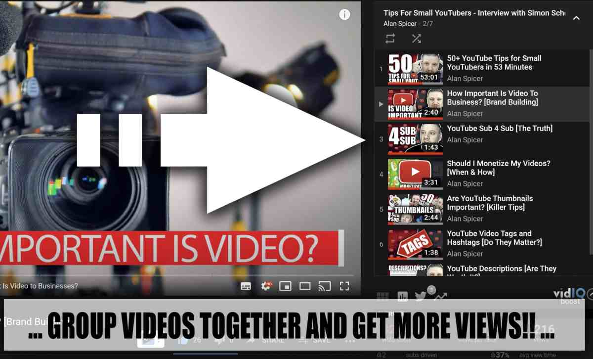 How to Group Videos on YouTube 2