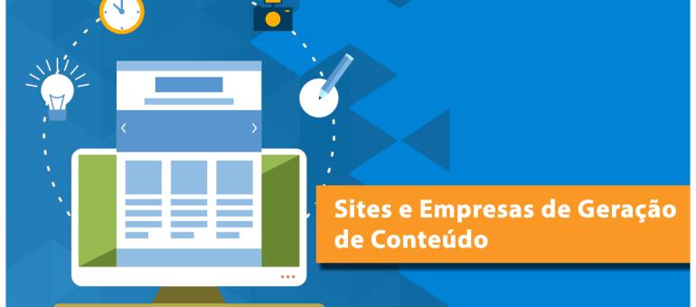 Sites e empresas de geração de conteúdo