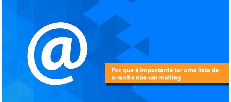 Importancia de ter uma lista de e-mail