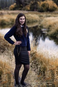 We took a variety of pastoral shots with the FFA uniform. This is Latah Creek.