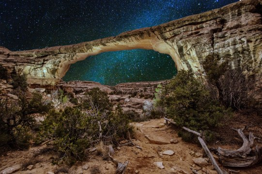 Natural Bridges National Monument is a dark sky photo site with loads of stars.
