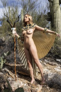 Kailey in one of several shots we did in this Goddess outfit in Tucson.