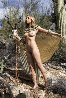 K. in one of several shots we did in this Goddess outfit in Tucson.
