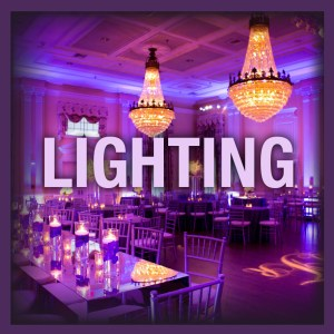 event lighting wedding reception