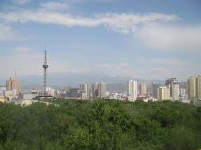 Urumqi Skyline, with Tian Shan Mountains in background